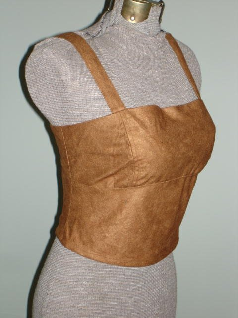 $12.99 Renaissance Goth Fitted Corset Bodice,Tank top Vest Curves Corset-New &Tag  Large size