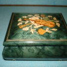 free ship New-$99.99 Fine Inlaid Wood, Music Box jewelery box  Hand Crafted In Sorrento Italy Green