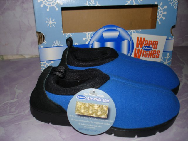 $12.99_Dr Scholls Shoes, Toasty Moc Gel Blue NIB Kids Boy or Girl size 2
