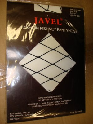 $2.99 New&sealed-1pair one size fit all -Black Fishnet Pantyhose-XXL