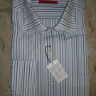 "NWT  MEN'S Italian ""Luchiano Visconti"" DRESS SHIRT Long Sleeve Size L stripe"