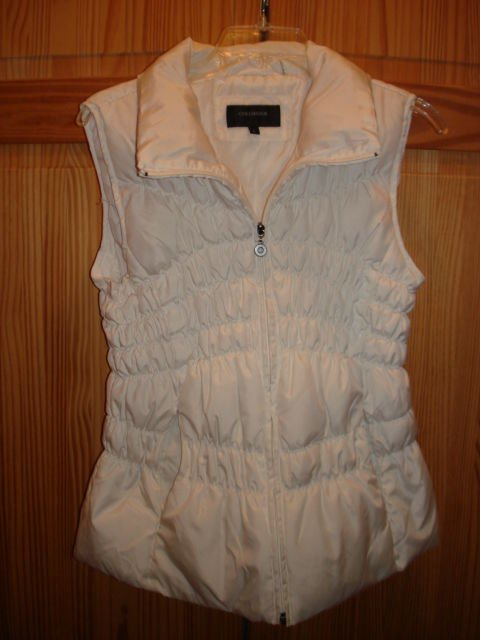 COLEBROOK  Vest Duck Down and Feather Fill, sz L WHITE COLOR very light weight