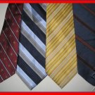 MEN PAUL FREDRICK FESTIND etc DESIGNR STRIPES SILK TIes