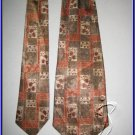 MENS RARE VINTAGE 1960s 1970s ART DECO RETRO SILK TIE