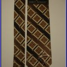 NEW STACY ADAMS SILK NECK TIE CUBES SQUARES BROWN