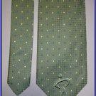 NEW GEOFFREY BEENE SILK TIE GREEN WHITE DOTS SUIT NECKT