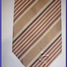 NEW ZODIAC STRIPES SILK COTTON MIX TIE