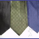 NEW VIA EUROPA BELLINI etc SOLD PLAIN SILK NECK TIES