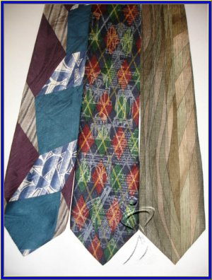 NEW ZYLOS STRUCTURE COCKTAIL COLORS COLE SILK TIES LOT