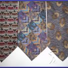 NEW DESIGNER COLECTION SMALL PATTERN ART DECO SILK TIES
