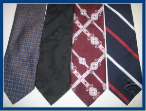MEN RARE VINTAGE 1970 1980s WIDE FATTY THICK RETRO TIES