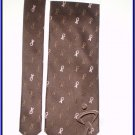 NEW BREAST CANCER AWARENESS LOGO SILK TIE BROWN