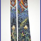 NEW ED HARDY SILK TIE ROSE SWORD SKULL BONES FLAMING