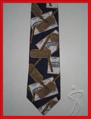 MENS CIGAR SMOKING SMOKER SILK NECK TIE NECKTIE