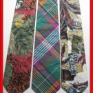 MENS SCOTTISH PLAID LEAVES COLORFUL COTTON NECK TIES NR