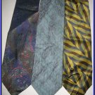 MENS DESIGNER COLLECTION PAISLEY CRISP WOVEN SILK TIES