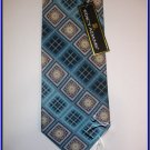 MENS NEW STACY ADAMS SILK NECK TIE PAISLEY BLUE BLACK