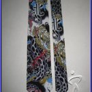 MENS NEW ED HARDY ANACONDA SNAKE SILK NECK TIE