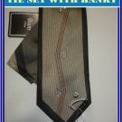 NEW BIANI OF ITALY SILK TIE HANKY RHINESTONE EXECUTIVE