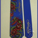 MENS NEW ED HARDY CHRISTIAN AUDIGIER DRAGON FLOWER SILK