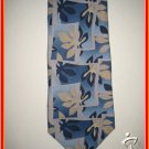 Mens New w/Tag Caribbean Hawaiian Blue Flowers Silk TIE