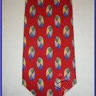 NEW EXECUTIVE DESIGNER STYLE SILK TIE RED CIRCLES BALLS