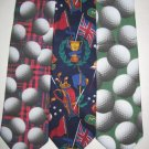 MENS SPORTS GOLF BALLS CLUBS CADDY NOVELTY NECK TIES