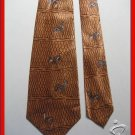 MEN RARE VINTAGE 1940s 1950S DEAR HUNTING SILK NECK TIE