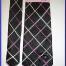 NEW BREAST CANCER KNOTS OF HOPE SILK TIE BLACK PLAID