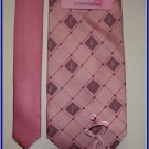 NEW BREAST CANCER SURVIVOR CURE LOGO SILK TIE PINK