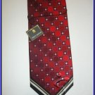 NEW STACY ADAMS SILK TIE RED POLKA DOTS CIRCLES