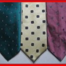 MENS WEMBLEY ETC SMALL PATTERN EXECUTIVE NECK TIES LOT