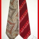 MEN RARE VINTAGE 1950s 1960s PAISLEY STRIPES SILK TIES