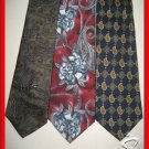 MENS TOMMY HILFIGER etc PAISLEY ART DECO SILK NECK TIES