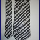 NEW SAVE THE CHILDREN SILK TIE STRIPES BLACK WHITE