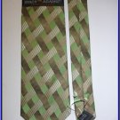 NEW STACY ADAMS SILK NECK TIE GREEN PLAID NECKTIE