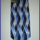 MENS NEW W/TAG STACY ADAMS SILK TIE PLAID BLUE