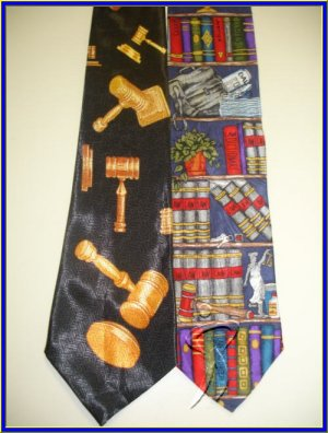 MENS JUDGE LAWYERS JURY BOOKS NOVELTY NECK TIES LOT