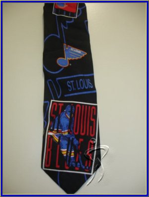 MENS ST LUIS BLUES ICE HOCKEY SPORTS NOVELTY NECK TIE