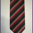 NEW BERGAMO HANKY CUFFLINK TIE SET RED STRIPES WOVEN