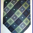 NEW BERGAMO HANKY CUFFLINK TIE SET CHECKERS CRISP WOVEN