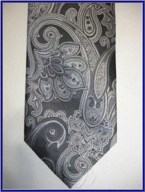 NEW BERGAMO HANKY CUFFLINK TIE SET PAISLEY ART DECO BLA