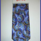 NEW J. JERRY GARCIA SILK TIE FISH BLUE ART DECO
