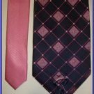 NEW BREAST CANCER CURE LOGO PINK PLAID SILK TIE