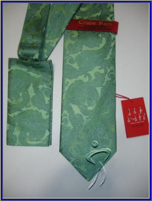NEW STEVE HARVEY SILK TIE W/ HANKY PAISLEY ART DECO