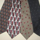 MENS EXECUTIVE DESIGNER COLLECTION SILK NECK TIES LOT