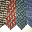 MENS SMALL PATTERN DESIGNER COLLECTION SILK TIES NECK