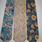 MENS RAIN FOREST SUNFLOWER SUN FLOWER COTTON TIES