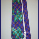 NEW RUSH POWER ELECTRIC SILK TIE NECKWEAR PLAID FLOWERS