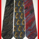 MENS MOLECULAR EXPRESSIONS ABSTRACT ART DECO SILK TIES